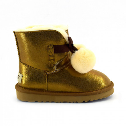 Kids Gita Metallic Chesnut